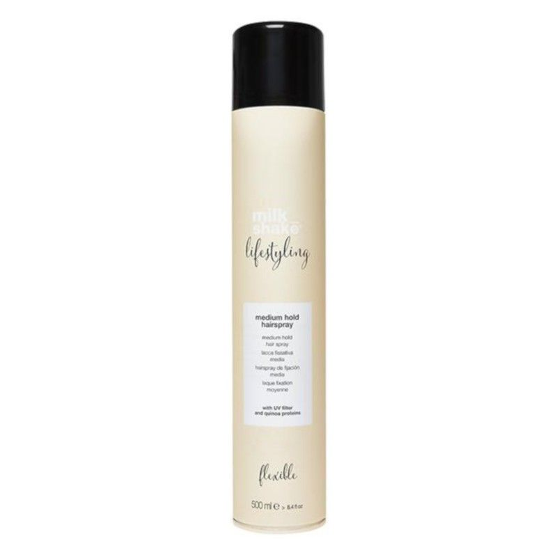 medium hold hairspray life styling milk shake